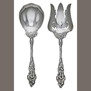 A pair American sterling silver salad servers. by Reed & Barton Co., Taunton, MA, circa 1900
