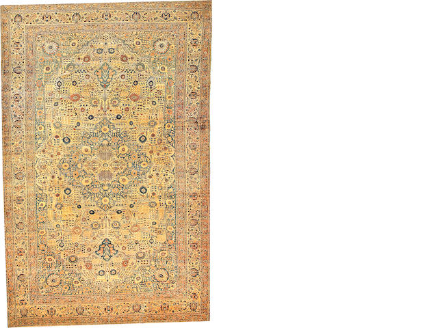 A Hadji Jalili Tabriz carpet  Northwest Persia size approximately 10ft. 4in. x 16ft. 3in.