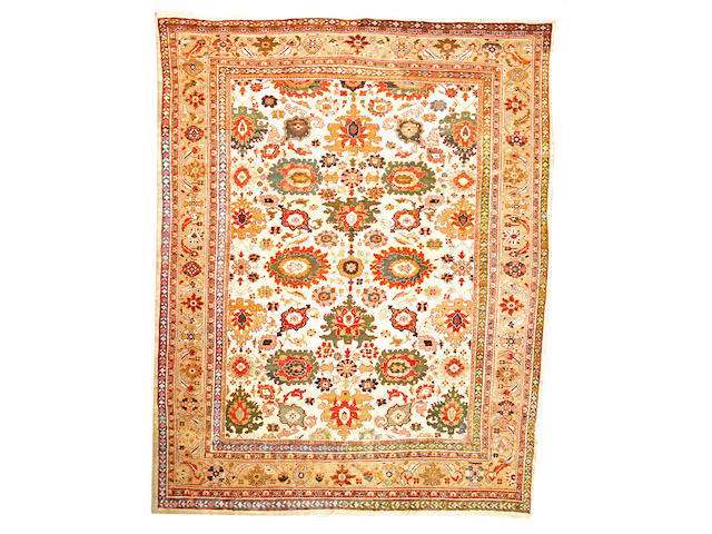 A Sultanabad carpet Central Persia size approximately 10ft. 4in. x 13ft. 9in.