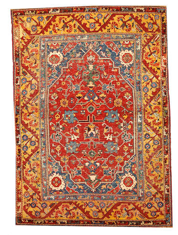 A Turkish Kula rug  Turkey size approximately 4ft. x 5ft.