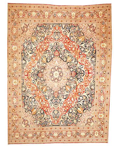 A Hadji Jalili Tabriz carpet  Northwest Persia size approximately 10ft. x 13ft. 6in.