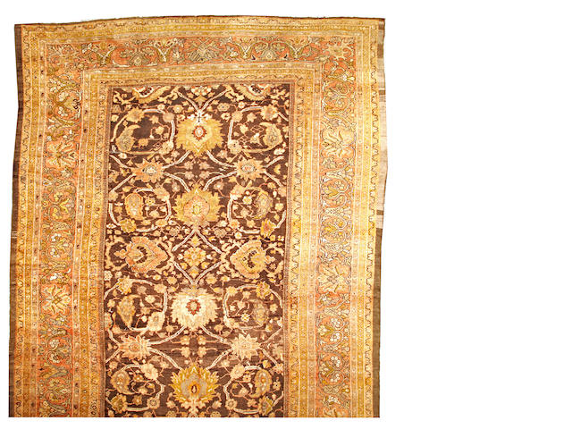 A Sultanabad carpet Central Persia size approximately 12ft. x 21ft. 8in.