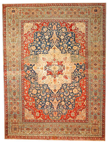 A Mohtasham Kashan carpet  Central Persia size approximately 9ft. 2in. x 12ft. 2in.
