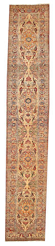 A Tabriz runner  Northwest Persia size approximately 2ft. 8in. x 15ft.