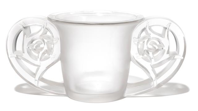 An R. Lalique glass vase: Pierrefonds