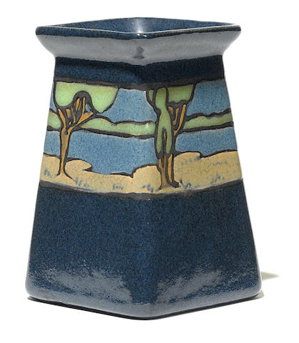 A Saturday Evening Girls landscape vase