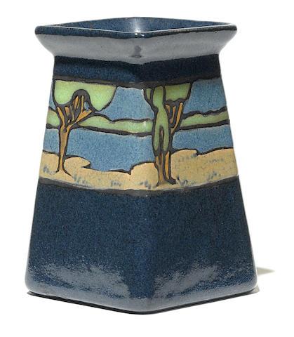 A Saturday Evening Girls landscape vase
