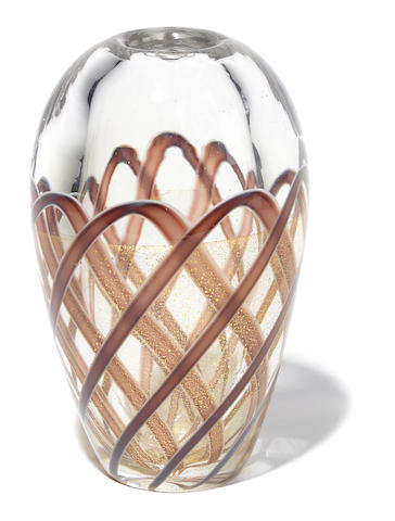 An Archimede Seguso Richiamato glass vase circa 1951