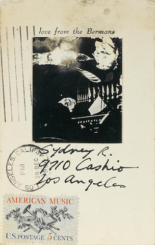 Wallace Berman, Love from the Bermans (American Music Stamp)