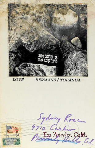 Wallace Berman, Love.  Bermans/Topanga