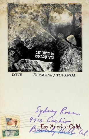 Wallace Berman, Love.  Bermans/Topanga