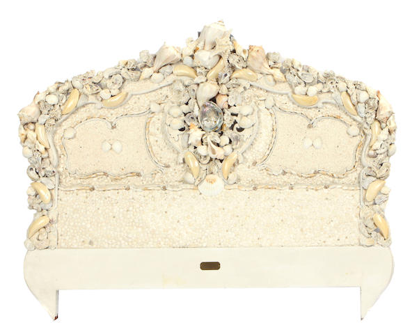 A contemporary Grotto style queen size headboard
