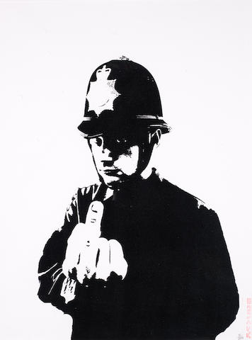 Banksy (British, born 1975) Rude Copper <BR />