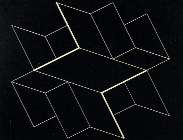 Josef Albers (1888-1976) Structural Constellation, 1957 6 1/2 x 8 1/2in (15.9 x 21.6cm)