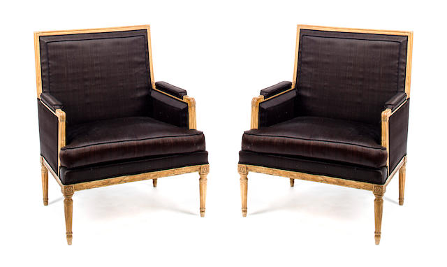 A Pair of Louis XVI Bergeres