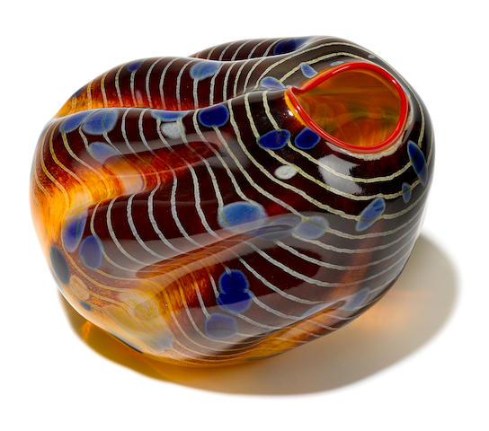 A Dale Chihuly blown glass Macchia for Portland Press, 2001