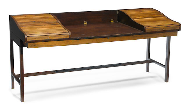 A Dunbar rosewood and walnut Executive desk