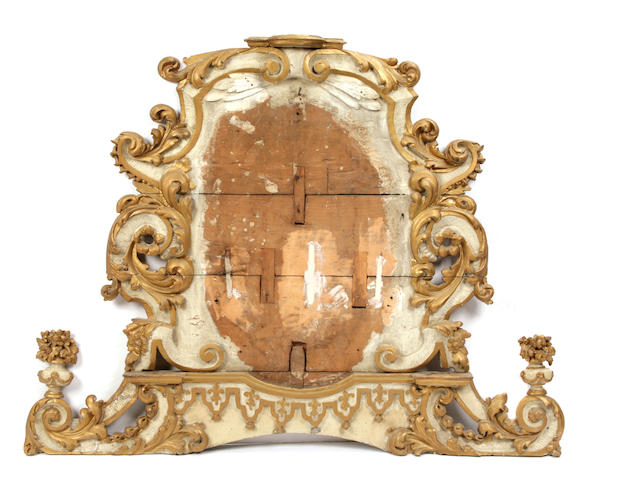 A Louis XV paint decorated architectural element