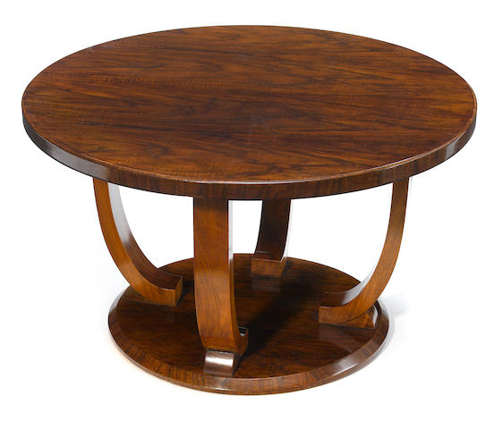 A Jules Leleu mahogany and rosewood coffee table 1928-1930