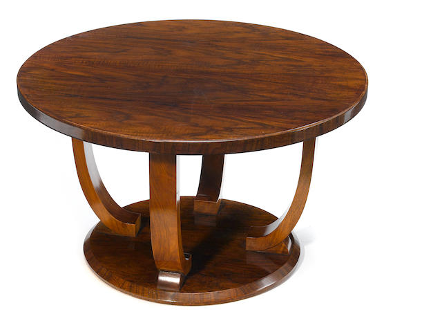 A Jules Leleu mahogany and rosewood coffee table  1928-1930