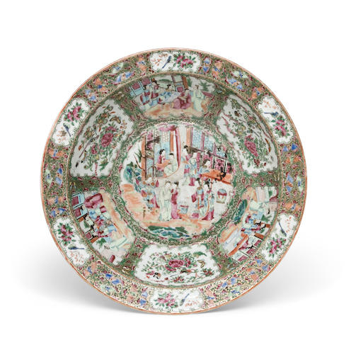 A Chinese Export porcelain Rose Medallion large basin<BR />mid-19th century