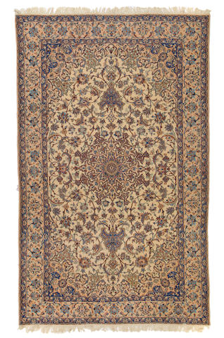 A Nain carpet size approximately 70in (178cm) x 118in (300cm)