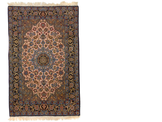 An Isphahan rug  size approximately 3ft. 7in. x 5ft. 8in.
