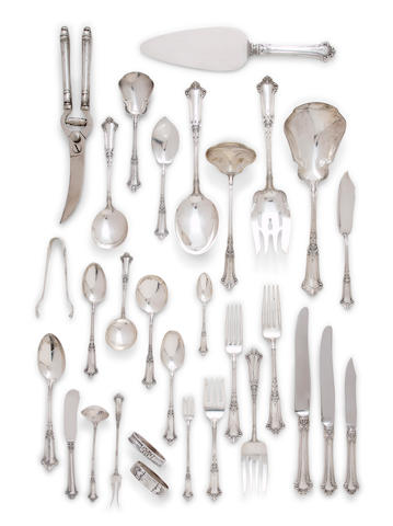An American sterling silver extensive flatware service for twelve<BR />by Gorham Mfg. Co., Providence, RI, circa 1897