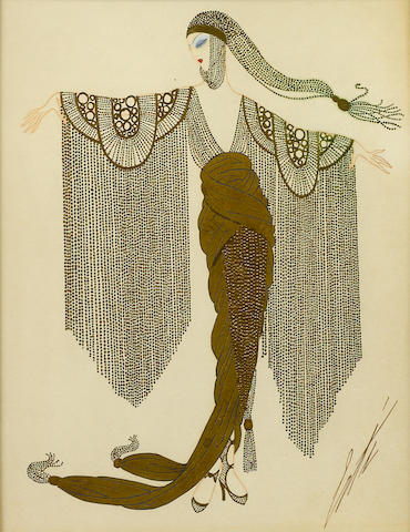 Erte (Romain de Tirtoff) (Russian/French, 1892-1990)  Californie from Milliardaires Americaines 1917