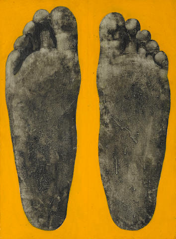 Llyn Foulkes (born 1934) Feet, 1963 19 x 14in (48.3 x 35.6cm)