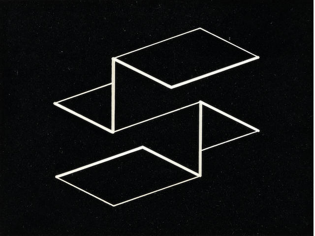 Josef Albers (1888-1976) Structural Constellation, 1958 5 1/4 x 6 3/4in (13.3 x 17.1cm)