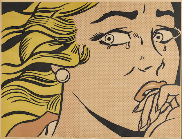 Roy Lichtenstein (1923-1997) Crying Girl, 1963 (C. II.1) image 17 1/4 x 23 1/4in (43.8 x 58.7cm)  sheet 18 x 24in (45.7 x 60.9cm)