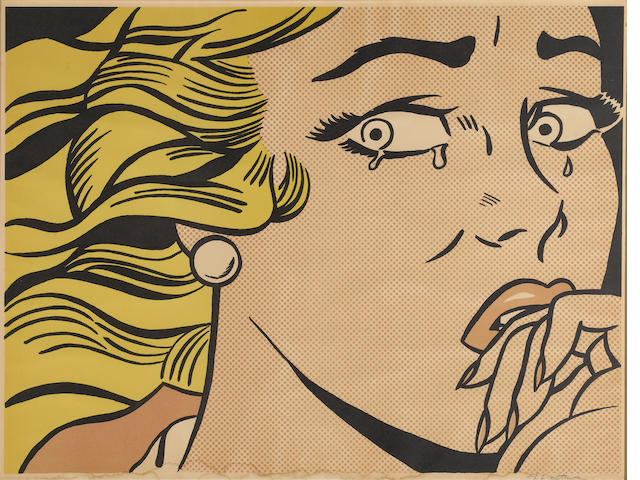 Roy Lichtenstein (1923-1997) Crying Girl, 1963 (C. II.1) 17 1/4 x 23 1/4in (43.8 x 58.7cm); sheet 18 x 24in (45.7 x 60.9cm)