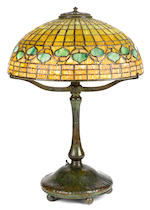 A Tiffany Studios Favrile glass and patinated bronze Acorn table lamp 1898-1918