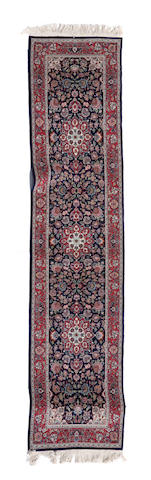An Indo Tabriz runner size approximately 2ft. 6in. x 10ft.