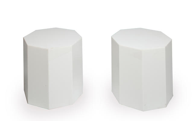 Alessandro Albrizzi  A Pair of Octagonal Side Tables