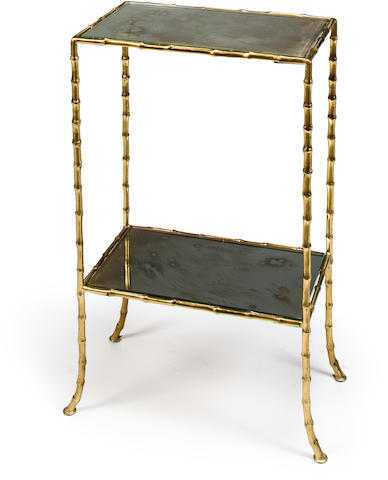 A Two-Tiered Side Table attributed to Bagues Freres, circa 1955
