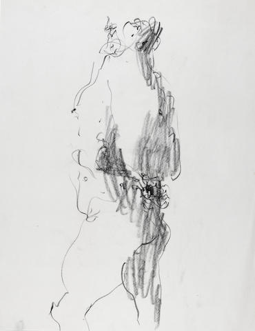 John Altoon Untitled, 1964, Charcoal on paper, 22 x 17in, unsigned, unframed
