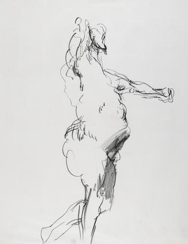 John Altoon, Untitled, 1964, Charcoal on paper, 22 x 17in, unframed