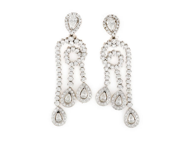 A pair of diamond earrings, Chopard