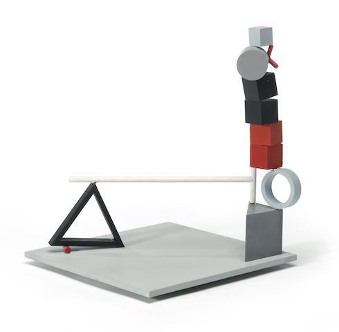 Fletcher Benton, Balanced-Unbalanced Triangle Phase, 1982