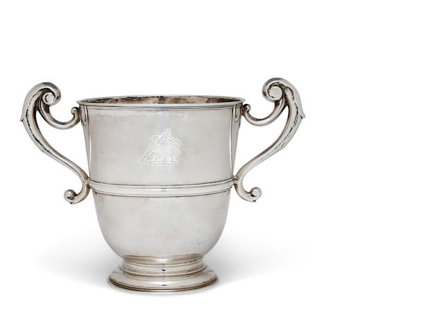 An Irish George II sterling silver two-handled cup<BR />Probably by Thomas Bolton, Dublin, 1741
