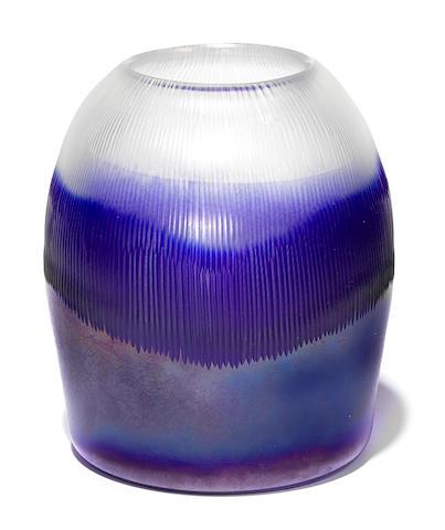 A Thomas Stearns for Venini glass Nebbia Lunare vase circa 1962