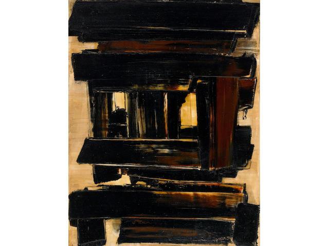 Pierre Soulages (born 1919) Peinture 116 x 89 cm, 22 mai 1958, 1958 45 7/8 x 35 1/4in. (116.5 x 89.5cm)
