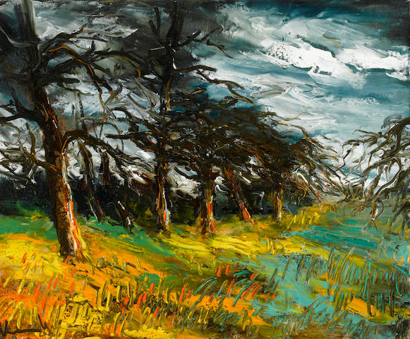 Attributed to Maurice de Vlaminck (French, 1876-1958), AUTHENTICATING Le pré 23 5/8 x 28 3/4in. (60 x 73cm)
