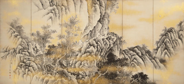 Iuchi Koho (1873 - after 1925)<BR />Red Cliff
