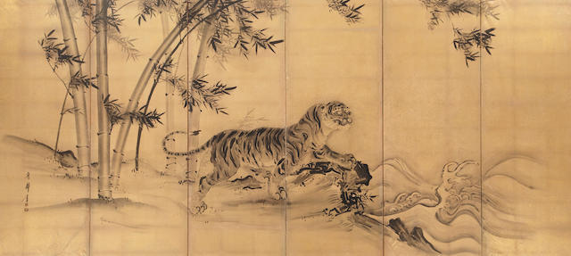 Nihonga school (19th century)<BR />Tiger