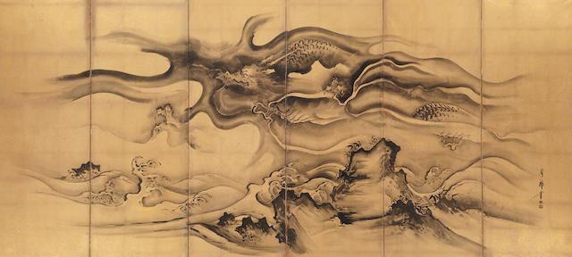 Nihonga School<BR />Dragon in Clouds