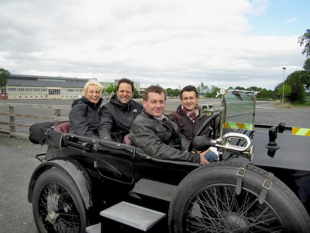 Eric and John Kavanagh with Tim and Nicola Schofield on the Gordon Bennett Rally