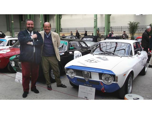 Philip Kantor and Gregory Noblet at the start of the Tour Auto, Paris